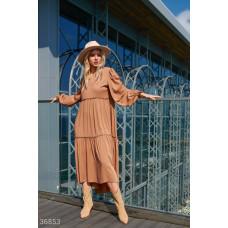 Асимметричное платье со свободным кроем