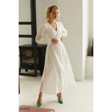 Белое платье из натурального хлопка