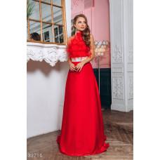 Алое шелковое платье