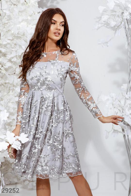 Ажурное вечернее платье