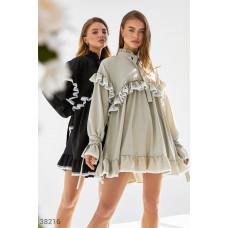 Oversize-платье оливкового оттенка